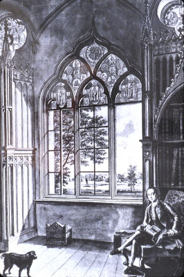 Walpole in  his Gothic Castle Strawberry Hills