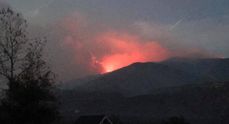 Thomas Fire on Ridge